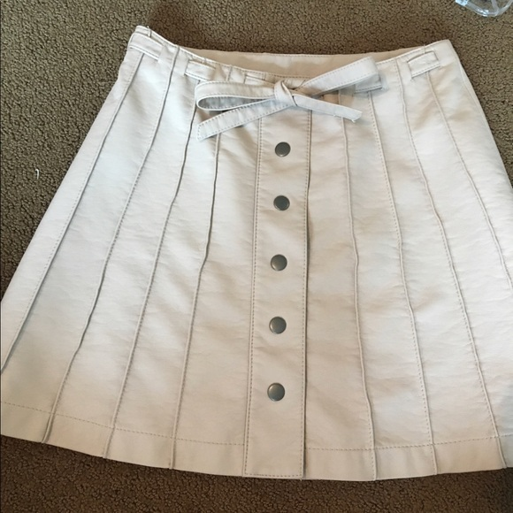 Free People Dresses & Skirts - Leather button up skirt with tie